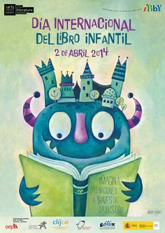International Children's Book Day 2014 (april 2nd). Poster by Niamh Sharkey. Día Internacional del Libro Infantil 2014. Cartel de Niamh Sharkey