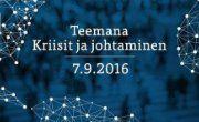 Johtajuussymposium tulee jälleen 7.9.2016!