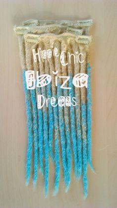 1 SHORT WEFT 4 Clip-in Synthetic hair dread por hippiechicdreads