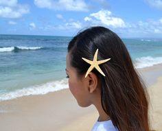 Starfish Hair Clip by HeavenlySea on Etsy, $5.00