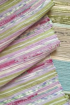 Handmade Pink Rag Rug, Cotton Hallway Runner, Striped Nursery Area Rug, Cozy Housewarming Gift - The handmade pink rag rug is woven by hand on a wooden loom: for the base of such rug, we use an ex - Striped Nursery, Nursery Area Rug, Rug Runners, Babe, Handmade Home Decor, Pink Rug, Rug Making, Colorful Rugs, House Warming