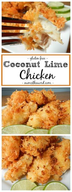 This simple dish of Coconut Lime Chicken is easy to prepare and can be baked or fried. Juicy chicken and crunchy coconut make this a favorite meal of mine!