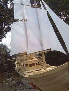 Pirate ship Made of popsicle sticks      By: Jesse Herawon