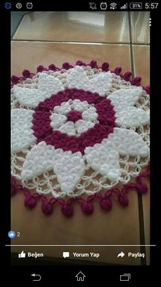This Pin was discovered by Rah Puff Stitch Crochet, Filet Crochet, Crochet Motif, Crochet Doilies, Knit Crochet, Diy And Crafts, Arts And Crafts, Easy Crochet Blanket, 3d Pattern
