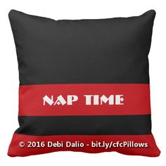 Enjoy nap time with this comfy throw pillow which features alternating black and red horizontal stripes with customizable text within one of the stripes. The red can be changed to any other color you prefer by customizing the product and choosing another background color. http://www.zazzle.com/black_and_customizable_red_with_text_color_block_pillow-189617313344910943?rf=238083504576446517&tc=20161013_pint_NSoZ #homedecor #bedding #bedroom #colorblock #StudioDalio