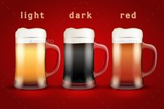 Beer Mugs with Three Brands