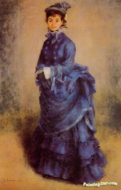 The Parisian Artwork by Pierre Auguste Renoir Hand-painted and Art Prints on canvas for sale,you can custom the size and frame