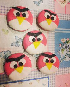 Angry birds cookies. Angry birds kurabiye