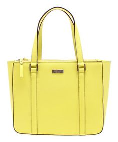 Another great find on #zulily! Electric Citrine Newbury Lane Cadene Leather Tote by Kate Spade #zulilyfinds