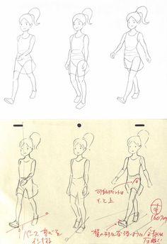 アニメ私塾 (@animesijyuku) | Twitter Human Figure Drawing, Figure Sketching, Figure Drawing Reference, Animation Reference, Art Reference Poses, Animation Storyboard, Animation Tutorial, Drawing Poses, Character Design References