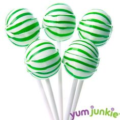Sassy Spheres Striped Suckers - Green - Halloween Candy - Occasions | Bulk Candy Store