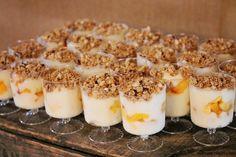 Rustic + Elegant Bridal Shower Ideas - yogurt parfaits were served for this bridal shower brunch! #bridalshowerideas http://www.peartreegreetings.com/blog/2013/05/rustic-elegant-bridal-shower-ideas/