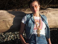 "Sophia (@sozimso) Seattle model in the Feminist Fatal ""Mushroom Ryder"" psychedelic indie t shirt."