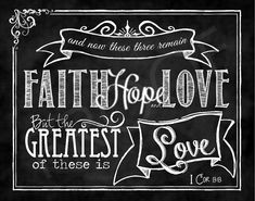 Scripture Art  I Corinthians 1313 by ToSuchAsTheseDesigns on Etsy