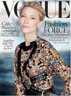 Cate Blanchett shows off sartorial flare on cover of Vogue Australia Cate Blanchett, Vogue Magazine Covers, Vogue Covers, Vogue Australia, Vanity Fair, Magazin Covers, Christine Centenera, Foto Fashion, Fashion Beauty