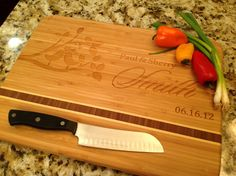 Wedding Personalized Cutting Board Custom by InspirationalProduct, $35.00