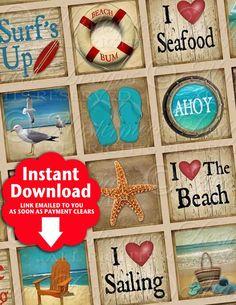 Retro Beach / Ocean / Vintage Designs  by MasterpieceDesigns