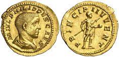Imperial Rome AV Aureus ND Rome Mint 245/6AD Philip II