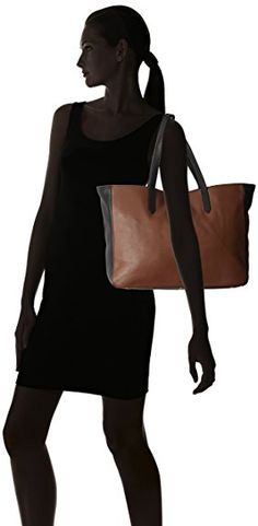 AmazonSmile: Fossil Sydney Tote, Black/Brown, One Size: Clothing