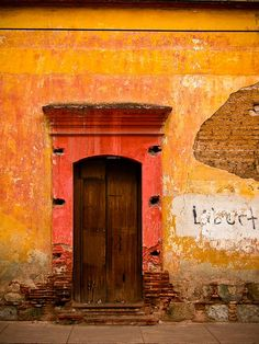 Faded red and orange...Oaxaca, Mexico