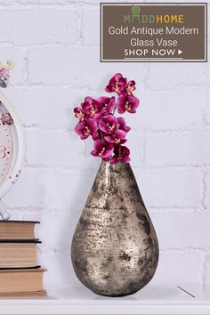 Gold Antique Modern Glass Vase