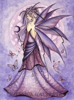 pictures of faries | Moon fairy lavender Lavender Moon©Jessica GalbrethAn elegant fairy ...