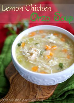 Lemon Chicken Orzo Soup | The Girl Who Ate Everything