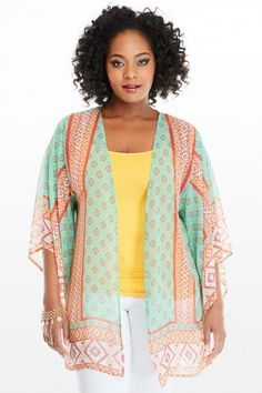 Plus Size Melody Boho Kimono Cardigan | Fashion To Figure #Kimon #PlusSizeFashion