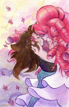 Imagen de steven universe and rose quartz