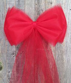 Noeud satin et tulle mariage th me rouge blanc pinterest tulle satin et noeud - Comment faire un noeud de chaise ...
