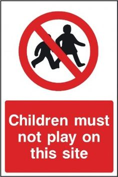 Shop now for a Children Must Not Play On Site Sign, part of the extensive construction site signs range of health and safety signage for UK construction sites.