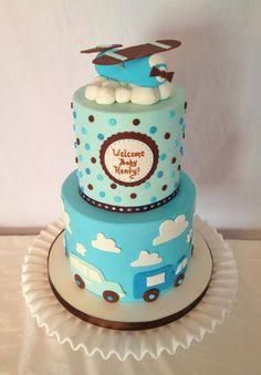 Image result for vintage transportation baby shower cake