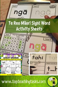 This te reo Maori resource includes the 50 most frequently used te reo high frequecy Māori words, the days of the week and numbers to ten in a dynamic superhero-themed activity sheets. Use this as part of your Word Work Daily 5 activities, for homework, or as an addition to your writing program. A great bonus – NO PREP! Just PRINT and GO! This resource would be useful in both bilingual and full immersion Māori medium classrooms.
