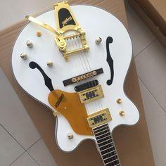 Bigsy Semi Hollow Body luxury Falcon white Jazz Electric Guitar Guilin, Jazz, Electric, Luxury, Jazz Music