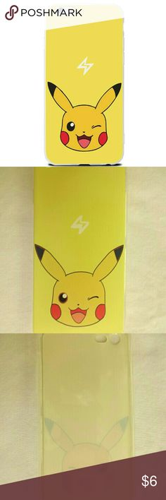 Pokemon Pikacho Yellow iPhone 6 Case New New soft, rubbery iPhone 6 case featuring Pikacho of Pokemon. Price is firm. unbranded  Accessories Phone Cases