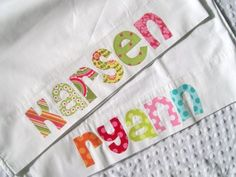 Monogram pillowcases for road trips or sleepovers