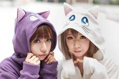 Girls Anime Sailor Moon Cat Luna Hoodie Cosplay Zip Hoody Sweatshirt Jacket Coat #Unbranded #Hoodie