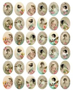 Free Oval Victorian Woman Printables