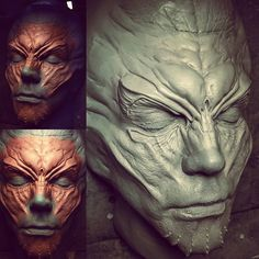 The Future is Here: Printed Prosthetics Makeup Fx, Prosthetic Makeup, Sculpture Head, Alien Design, Character Makeup, Make Up Art, Special Effects Makeup, Makeup Designs, Creature Design