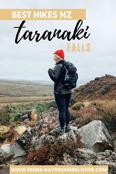 A guide to hiking the best short walk in Tongariro National Park, Taranaki Falls Walk. If you are looking for the best hikes in North Island New Zealand you can't miss the Taranaki Falls Tracks. Make sure you add this walk to your New Zealand bucket list. #northislandnewzealand #newzealandtravel #northislandtravel #hikingnewzealand #tongarironationalpark