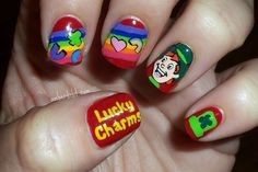 Amber did it!: Magically Delicious.  Lucky Charms nail art
