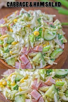 Ham Salad Recipes, Cabbage Recipes, Mexican Food Recipes, Vegetarian Recipes, Chicken Recipes, Cooking Recipes, Healthy Recipes, Ham Pasta Salads, Healthy Ramen