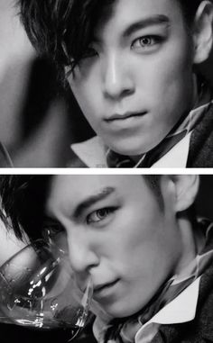 TOP (Choi Seung Hyun) ♡  BIG BANG – 'DOOM DADA' MV    making contacts and makeup on men sexy.