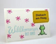 Willkommen, Frosch, Love you lots, Karte, Stempelitis.de, Stampin up
