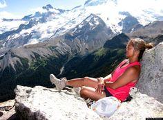 Maria Anderson summits Second Burroughs in Washington. #bestweekendever
