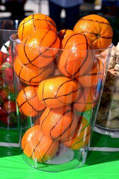 "Orange ""Cutie"" Basketballs for a Sports Birthday snack"