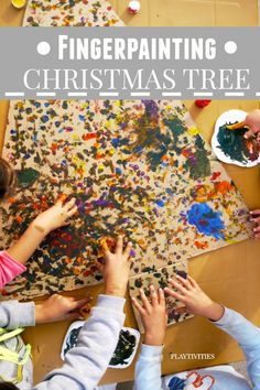 fingerpainting christmas tree