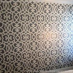 Allover Moroccan Wall Stencils Pattern for DIY Decorating - Royal Design Studio