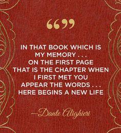 A passage from a Dante Alighieri poem: