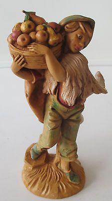 3-Vtg-Fontanini-Villagers-David-144-Seth-145-Nathan-146-Nativity-Figures-1987 Fontanini Nativity, Garden Sculpture, David, Outdoor Decor